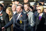 Remembrance Sunday at the Cenotaph in London 2014: Group E17 - HMS Ganges Association. Press stand opposite the Foreign Office building, Whitehall, London SW1, London, Greater London, United Kingdom, on 09 November 2014 at 11:51, image #699