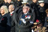 Remembrance Sunday at the Cenotaph in London 2014: Group E17 - HMS Ganges Association. Press stand opposite the Foreign Office building, Whitehall, London SW1, London, Greater London, United Kingdom, on 09 November 2014 at 11:52, image #705