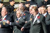 Remembrance Sunday at the Cenotaph in London 2014: Group E18 - HMS Glasgow Association.. Press stand opposite the Foreign Office building, Whitehall, London SW1, London, Greater London, United Kingdom, on 09 November 2014 at 11:52, image #709