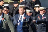 Remembrance Sunday at the Cenotaph in London 2014: Group E18 - HMS Glasgow Association.. Press stand opposite the Foreign Office building, Whitehall, London SW1, London, Greater London, United Kingdom, on 09 November 2014 at 11:52, image #713