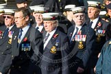 Remembrance Sunday at the Cenotaph in London 2014: Group E19 - HMS St Vincent Association. Press stand opposite the Foreign Office building, Whitehall, London SW1, London, Greater London, United Kingdom, on 09 November 2014 at 11:52, image #715