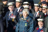 Remembrance Sunday at the Cenotaph in London 2014: Group E19 - HMS St Vincent Association. Press stand opposite the Foreign Office building, Whitehall, London SW1, London, Greater London, United Kingdom, on 09 November 2014 at 11:52, image #716
