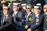 Remembrance Sunday at the Cenotaph in London 2014: Group E19 - HMS St Vincent Association. Press stand opposite the Foreign Office building, Whitehall, London SW1, London, Greater London, United Kingdom, on 09 November 2014 at 11:52, image #720