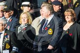 Remembrance Sunday at the Cenotaph in London 2014: Group E20 - HMS Tiger Association. Press stand opposite the Foreign Office building, Whitehall, London SW1, London, Greater London, United Kingdom, on 09 November 2014 at 11:52, image #723