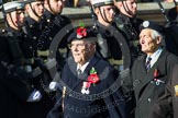 Remembrance Sunday at the Cenotaph in London 2014: Group E20 - HMS Tiger Association. Press stand opposite the Foreign Office building, Whitehall, London SW1, London, Greater London, United Kingdom, on 09 November 2014 at 11:52, image #725