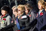 Remembrance Sunday at the Cenotaph in London 2014: Group E24 - Queen Alexandra's Royal Naval Nursing Service. Press stand opposite the Foreign Office building, Whitehall, London SW1, London, Greater London, United Kingdom, on 09 November 2014 at 11:52, image #753