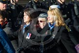 Remembrance Sunday at the Cenotaph in London 2014: Group E25 - Association of WRENS. Press stand opposite the Foreign Office building, Whitehall, London SW1, London, Greater London, United Kingdom, on 09 November 2014 at 11:53, image #779