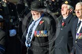 Remembrance Sunday at the Cenotaph in London 2014: Group E26 - Royal Fleet Auxiliary Association. Press stand opposite the Foreign Office building, Whitehall, London SW1, London, Greater London, United Kingdom, on 09 November 2014 at 11:53, image #783