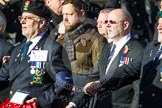 Remembrance Sunday at the Cenotaph in London 2014: Group E27 - Royal Naval Communications Association. Press stand opposite the Foreign Office building, Whitehall, London SW1, London, Greater London, United Kingdom, on 09 November 2014 at 11:53, image #790