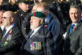 Remembrance Sunday at the Cenotaph in London 2014: Group E27 - Royal Naval Communications Association. Press stand opposite the Foreign Office building, Whitehall, London SW1, London, Greater London, United Kingdom, on 09 November 2014 at 11:53, image #791