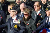 Remembrance Sunday at the Cenotaph in London 2014: Group E33 - Submariners Association. Press stand opposite the Foreign Office building, Whitehall, London SW1, London, Greater London, United Kingdom, on 09 November 2014 at 11:54, image #826