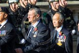 Remembrance Sunday at the Cenotaph in London 2014: Group E33 - Submariners Association. Press stand opposite the Foreign Office building, Whitehall, London SW1, London, Greater London, United Kingdom, on 09 November 2014 at 11:54, image #828