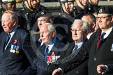 Remembrance Sunday at the Cenotaph in London 2014: Group E36 - Broadsword Association. Press stand opposite the Foreign Office building, Whitehall, London SW1, London, Greater London, United Kingdom, on 09 November 2014 at 11:54, image #841