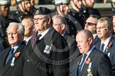 Remembrance Sunday at the Cenotaph in London 2014: Group E36 - Broadsword Association. Press stand opposite the Foreign Office building, Whitehall, London SW1, London, Greater London, United Kingdom, on 09 November 2014 at 11:54, image #842