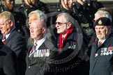 Remembrance Sunday at the Cenotaph in London 2014: Group E37 -Aircraft Handlers Association. Press stand opposite the Foreign Office building, Whitehall, London SW1, London, Greater London, United Kingdom, on 09 November 2014 at 11:54, image #849