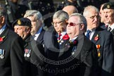 Remembrance Sunday at the Cenotaph in London 2014: Group E37 -Aircraft Handlers Association. Press stand opposite the Foreign Office building, Whitehall, London SW1, London, Greater London, United Kingdom, on 09 November 2014 at 11:54, image #852