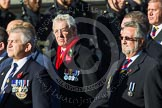 Remembrance Sunday at the Cenotaph in London 2014: Group E37 -Aircraft Handlers Association. Press stand opposite the Foreign Office building, Whitehall, London SW1, London, Greater London, United Kingdom, on 09 November 2014 at 11:54, image #855