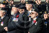 Remembrance Sunday at the Cenotaph in London 2014: Group E38 - Aircrewmans Association. Press stand opposite the Foreign Office building, Whitehall, London SW1, London, Greater London, United Kingdom, on 09 November 2014 at 11:54, image #858