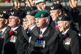 Remembrance Sunday at the Cenotaph in London 2014: Group E38 - Aircrewmans Association. Press stand opposite the Foreign Office building, Whitehall, London SW1, London, Greater London, United Kingdom, on 09 November 2014 at 11:54, image #862