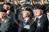 Remembrance Sunday at the Cenotaph in London 2014: Group E38 - Aircrewmans Association. Press stand opposite the Foreign Office building, Whitehall, London SW1, London, Greater London, United Kingdom, on 09 November 2014 at 11:54, image #865