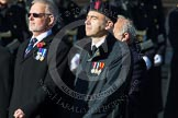 Remembrance Sunday at the Cenotaph in London 2014: Group E40 - The Fisgard Association. Press stand opposite the Foreign Office building, Whitehall, London SW1, London, Greater London, United Kingdom, on 09 November 2014 at 11:55, image #874