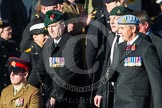 Remembrance Sunday at the Cenotaph in London 2014: ??? Please let me know which group this is! ???. Press stand opposite the Foreign Office building, Whitehall, London SW1, London, Greater London, United Kingdom, on 09 November 2014 at 11:55, image #881