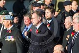 Remembrance Sunday at the Cenotaph in London 2014: ??? Please let me know which group this is! ???. Press stand opposite the Foreign Office building, Whitehall, London SW1, London, Greater London, United Kingdom, on 09 November 2014 at 11:55, image #883