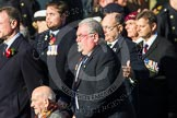 Remembrance Sunday at the Cenotaph in London 2014: ??? Please let me know which group this is! ???. Press stand opposite the Foreign Office building, Whitehall, London SW1, London, Greater London, United Kingdom, on 09 November 2014 at 11:55, image #884