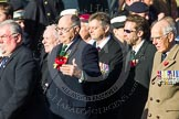 Remembrance Sunday at the Cenotaph in London 2014: ??? Please let me know which group this is! ???. Press stand opposite the Foreign Office building, Whitehall, London SW1, London, Greater London, United Kingdom, on 09 November 2014 at 11:55, image #885