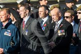 Remembrance Sunday at the Cenotaph in London 2014: ??? Please let me know which group this is! ???. Press stand opposite the Foreign Office building, Whitehall, London SW1, London, Greater London, United Kingdom, on 09 November 2014 at 11:55, image #890