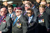 Remembrance Sunday at the Cenotaph in London 2014: ??? Please let me know which group this is! ???. Press stand opposite the Foreign Office building, Whitehall, London SW1, London, Greater London, United Kingdom, on 09 November 2014 at 11:55, image #894