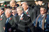 Remembrance Sunday at the Cenotaph in London 2014: ??? Please let me know which group this is! ???. Press stand opposite the Foreign Office building, Whitehall, London SW1, London, Greater London, United Kingdom, on 09 November 2014 at 11:55, image #898