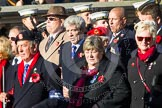 Remembrance Sunday at the Cenotaph in London 2014: Group A1 - Blind Veterans UK. Press stand opposite the Foreign Office building, Whitehall, London SW1, London, Greater London, United Kingdom, on 09 November 2014 at 11:56, image #901