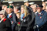 Remembrance Sunday at the Cenotaph in London 2014: Group A1 - Blind Veterans UK. Press stand opposite the Foreign Office building, Whitehall, London SW1, London, Greater London, United Kingdom, on 09 November 2014 at 11:56, image #906