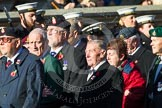 Remembrance Sunday at the Cenotaph in London 2014: Group A1 - Blind Veterans UK. Press stand opposite the Foreign Office building, Whitehall, London SW1, London, Greater London, United Kingdom, on 09 November 2014 at 11:56, image #908