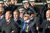 Remembrance Sunday at the Cenotaph in London 2014: Group A1 - Blind Veterans UK. Press stand opposite the Foreign Office building, Whitehall, London SW1, London, Greater London, United Kingdom, on 09 November 2014 at 11:56, image #916