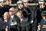 Remembrance Sunday at the Cenotaph in London 2014: Group A1 - Blind Veterans UK. Press stand opposite the Foreign Office building, Whitehall, London SW1, London, Greater London, United Kingdom, on 09 November 2014 at 11:56, image #918