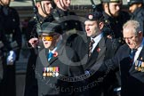Remembrance Sunday at the Cenotaph in London 2014: Group A1 - Blind Veterans UK. Press stand opposite the Foreign Office building, Whitehall, London SW1, London, Greater London, United Kingdom, on 09 November 2014 at 11:56, image #919