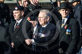 Remembrance Sunday at the Cenotaph in London 2014: Group A1 - Blind Veterans UK. Press stand opposite the Foreign Office building, Whitehall, London SW1, London, Greater London, United Kingdom, on 09 November 2014 at 11:56, image #920