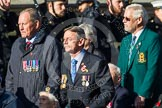 Remembrance Sunday at the Cenotaph in London 2014: Group A1 - Blind Veterans UK. Press stand opposite the Foreign Office building, Whitehall, London SW1, London, Greater London, United Kingdom, on 09 November 2014 at 11:56, image #922