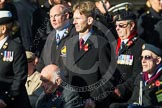 Remembrance Sunday at the Cenotaph in London 2014: Group A1 - Blind Veterans UK. Press stand opposite the Foreign Office building, Whitehall, London SW1, London, Greater London, United Kingdom, on 09 November 2014 at 11:56, image #926