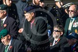 Remembrance Sunday at the Cenotaph in London 2014: Group A1 - Blind Veterans UK. Press stand opposite the Foreign Office building, Whitehall, London SW1, London, Greater London, United Kingdom, on 09 November 2014 at 11:56, image #929