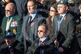 Remembrance Sunday at the Cenotaph in London 2014: Group A1 - Blind Veterans UK. Press stand opposite the Foreign Office building, Whitehall, London SW1, London, Greater London, United Kingdom, on 09 November 2014 at 11:56, image #931