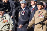 Remembrance Sunday at the Cenotaph in London 2014: Group F2 - Italy Star Association. Press stand opposite the Foreign Office building, Whitehall, London SW1, London, Greater London, United Kingdom, on 09 November 2014 at 11:56, image #937