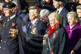 Remembrance Sunday at the Cenotaph in London 2014: Group F2 - Italy Star Association. Press stand opposite the Foreign Office building, Whitehall, London SW1, London, Greater London, United Kingdom, on 09 November 2014 at 11:56, image #940