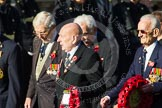 Remembrance Sunday at the Cenotaph in London 2014: Group F3 - Monte Cassino Society. Press stand opposite the Foreign Office building, Whitehall, London SW1, London, Greater London, United Kingdom, on 09 November 2014 at 11:56, image #954