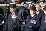Remembrance Sunday at the Cenotaph in London 2014: Group F6 - Queen's Bodyguard of The Yeoman of The Guard. Press stand opposite the Foreign Office building, Whitehall, London SW1, London, Greater London, United Kingdom, on 09 November 2014 at 11:57, image #964