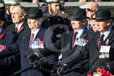 Remembrance Sunday at the Cenotaph in London 2014: Group F6 - Queen's Bodyguard of The Yeoman of The Guard. Press stand opposite the Foreign Office building, Whitehall, London SW1, London, Greater London, United Kingdom, on 09 November 2014 at 11:57, image #966