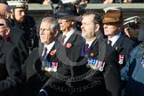 Remembrance Sunday at the Cenotaph in London 2014: Group F6 - Queen's Bodyguard of The Yeoman of The Guard. Press stand opposite the Foreign Office building, Whitehall, London SW1, London, Greater London, United Kingdom, on 09 November 2014 at 11:57, image #967
