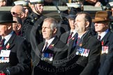 Remembrance Sunday at the Cenotaph in London 2014: Group F6 - Queen's Bodyguard of The Yeoman of The Guard. Press stand opposite the Foreign Office building, Whitehall, London SW1, London, Greater London, United Kingdom, on 09 November 2014 at 11:57, image #968
